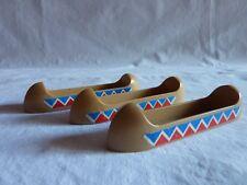 PLAYMOBIL accessoires western far west cow boy lot 3 barques pour indiens