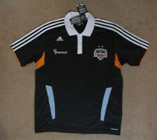 Adidas Houston Dynamo  soccer polo shirt NEW   LARGE   NWT tags MLS