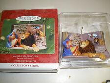 New Hallmark Keepsake Ornament Daniel in the Lion's Den 2001 Collector Series