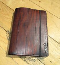 Personalized Leather Journal With A wood Appearance Handmade