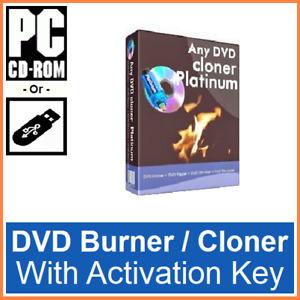 Any DVD Clone/Cloner Platinum Edition Rip/Ripper Full Version Inc Key CDR or USB