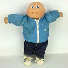 Cabbage Patch Kids Boy Doll Vintage Bald Baby Clothes Shoes Coleco Hong Kong Vtg