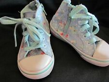 Genuine Kids Blue Floral High Tops Size 7