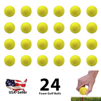 24 Foam Golf Balls Practice PU Elastic Sponge Indoor Outdoor Training Chip Drive