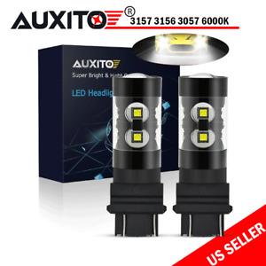2X 3156 3157 100W LED Reverse Brake Turn Signal Parking Light Bulbs 6000K 4000LM