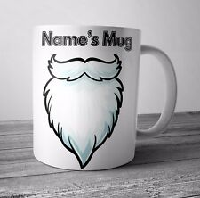 Personalised Mug / Cup - Santas Beard Christmas Gift / Secret Santa  - Any NAME