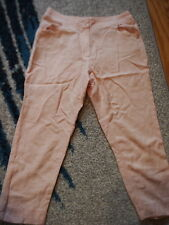 Chanel pink cropped pants 100% silk