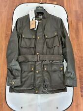 Belstaff Trialmaster 1948 Faded Olive 6oz Waxed Cotton Jacket Size Medium...