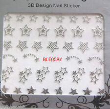 3D Sticker French Metal Nail Art Accessories