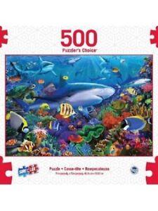 SURE LOX 500 PIECE PUZZLERS CHOICE SHARK REEF  48.26CM x 33.02CM