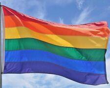 "Gay Pride Banner/Flag  7' X 5' ""BIG"""