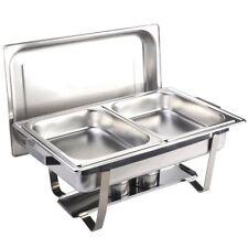 Chafing Dish Speisenwärmer mit 2 Speisebehälter GN Behälter 2 x 1/2 Tiefe 65 mm