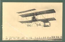 AVIAZIONE. Aeroplano Sommer. Cartolina d'epoca non viaggiata, circa 1915.