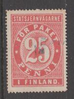 Finland Railroad tax revenue cinderella fiscal stamp 4-10