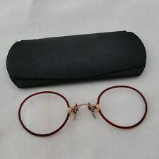 AO FITS-U  PINCE NEZ - Rare antique Eyeglasses & Camel Back Case