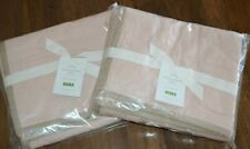 Pottery Barn Set of 2 Rustic Stonewashed Euro Pillow Shams Soft Rose Pink New