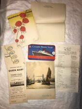 Queen Mary Cunard White Star Line Lot (May 1952)