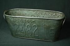 Galvanized Steel License Plate Planter