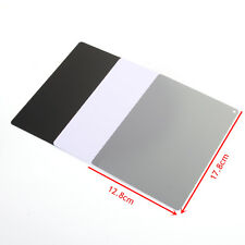 Portable 3 in 1 18% Gray Black White Color Balance Large Card Exposure + Strap
