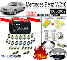 15pcs Set Xenon White 5630 LED Interior Light Kit For Mercedes Benz E-Class W210