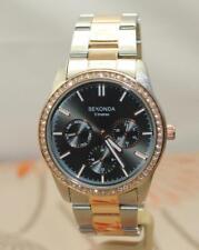 Sekonda 2161 Ladies Bi-Colour Anthracite Dial Bracelet Day Date Watch RRP£119.99