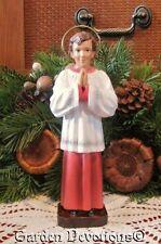 "8.5"" ST. DOMINIC SAVIO STATUE Child's Favorite! Chalkware / Plaster **IMPORTED**"