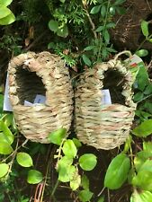 Pair of Natural roosting pockets / nests  for small birds