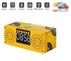 Bluetooth LOUD Speaker Wireless Outdoor Stereo Bass USB/TF/FM Radio Alarm Clock