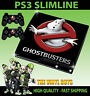 PLAYSTATION PS3 SLIM STICKER GHOST BUSTERS LOGO GHOSTBUSTERS SKIN + PAD SKIN