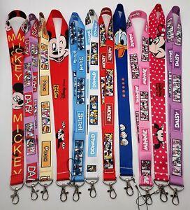Mix 10 pcs Mickey Minnie  Lanyard Neck Straps Phone Rope Keychain Gift