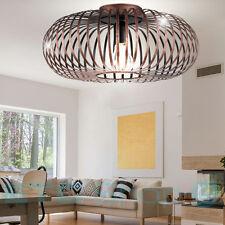 Robuste Decken Lampe Gästezimmer Käfig Gestell Strahler rund kupfer-färbig E27