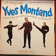 YVES MONTAND-AN EVENING WITH-LP-COLUMBIA-WL 167-CABARET