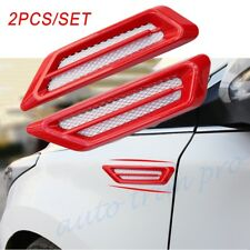 Universal Auto Moulding Fender Air Vent Inlet Grille Decorate Accessories Red 2X