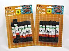 """12 Pair 34"""" Black Shoe Laces"""