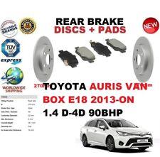für Toyota Auris 1.4 D - D-4D E18 Van Dose 2013-on Bremsscheiben SET