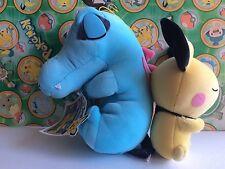 Pokemon Plush Totodile & Pichu DX Friends Big Banpresto 2001 UFO doll figure toy