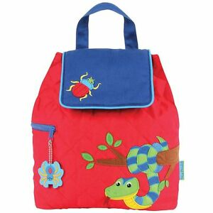 """Stephen Joseph """"Snake/Bug"""" 100% Cotton Quilted Backpack"""