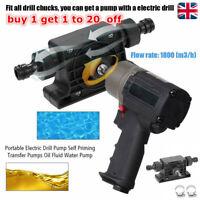 Portable Electric Drill Drive Pump Oil Water Fluid Priming Self Transfer E0R6