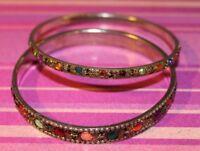 Two multi colored bangle Bracelets (T10)