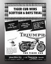 VINTAGE TRIUMPH TIGER CUB IMAGE BANNER NOS IMAGE REPRODUCTION