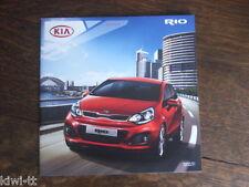 KIA Rio Année Modèle 2012 prospectus/depliant/brochure, d, 8.2011