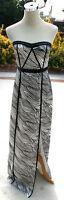 NWT BCBG MAX AZRIA $398 Black / White Party Prom Gown 2