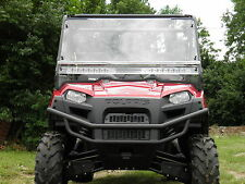Polaris 2009+ Full Size Ranger 2 Pc Vented Windshield-BEST-FREE SHIPPING