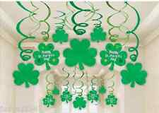 Amscan International St Patricks Day Hanging Swirl Decorations (30 Pack)