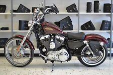 Harley SPORTSTER LEFT Side BLACK SOLO BAG Saddlebag - SL03 BAD&G CustomS