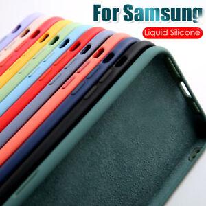 Para Samsung Galaxy Note 20 Ultra S20 FE S10 A21S M51 Funda de silicona líquida