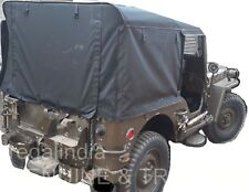 STITCHED ROLLED BACK SOFT TOP FOR CJ JEEP WILLYS CJ2A CJ3A CROSS STICKS 1947-53