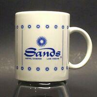 Vintage Sands Hotel & Casino Coffee Mug Las Vegas Nevada Blue White