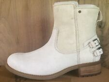 UGG Australia NIB Orion UGGpure™ Glacier White Women's Moto Ankle Boots Size 9.5
