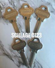 (5) New Original Schlage Everest Key Blanks C123